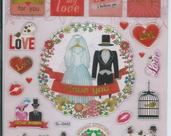 Japanese / Korean  Sticker - Love Wedding