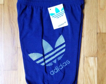 vintage adidas elastic cuffed shorts mens size small deadstock NWT 1988 olympics made in USA