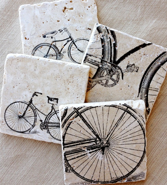 Wall Art Metal Bicycle : Bike coasters gift bicycle decor
