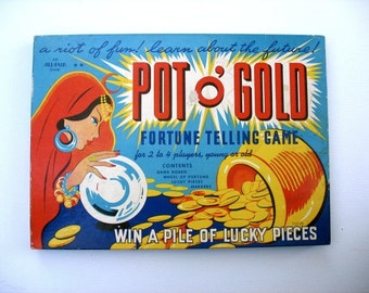 Pot O Gold Board Game-Vintage fortune telling game-Game by All-Fair