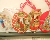RESERVED for NANCY - 4 Set 3D CHRISTMAS Gift Tags