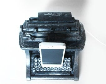 Vintage Typewriter (Faux) - iPhone 5 Dock, iPhone 5S Charger, Ornamental Dock - Writers, Writing, Antique