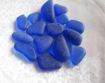 sea glass genuine blue very small beach glass