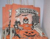 Vintage a&w root beer bear halloween trick or treat bags