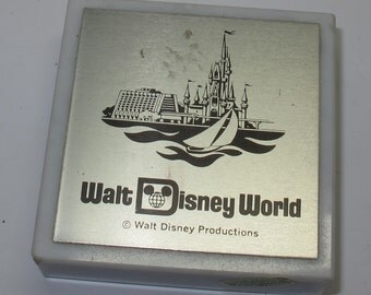 Vintage walt disney world paperweight