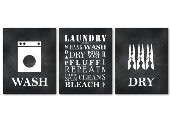 Laundry Symbols Wall Art New Laundry Room Print Set Wall Art Trio Laundry Symbols Review
