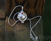 "Sterling Silver Vampire Diaries Jewelry Locket Elena Necklace VERVAIN FILLED with 18"" Snake Chain - Both Pendant and Chain are 925 Silver"