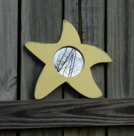 Star Mirror Wall Hanging Decor Starfish by MiroirMiroirsurleMur