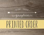 Printed Order Reserved Listing for carxoline | *please see listing details