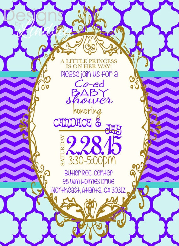 co ed baby shower invitation by lindseylucy8605 on etsy