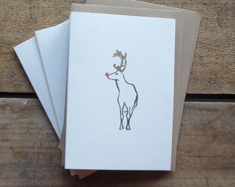 Rudolph Christmas Cards (pack of 5)