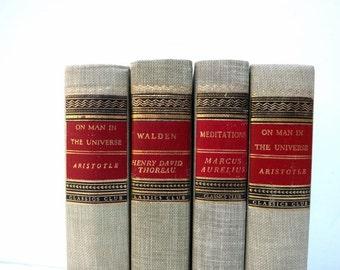 Vintage Books / Neutral Vintage / Book Decor / Decorative Books / Book Bundle / Home Decor /  Photo Prop / Wedding Decor/ Instant Library
