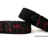 Motion Sickness Anti Nausea Bracelets for all symptoms of nausea, anxiety, heartburn. Adjustable. Merlot