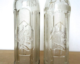 Vintage Big Chief Soda Bottles Set of Two