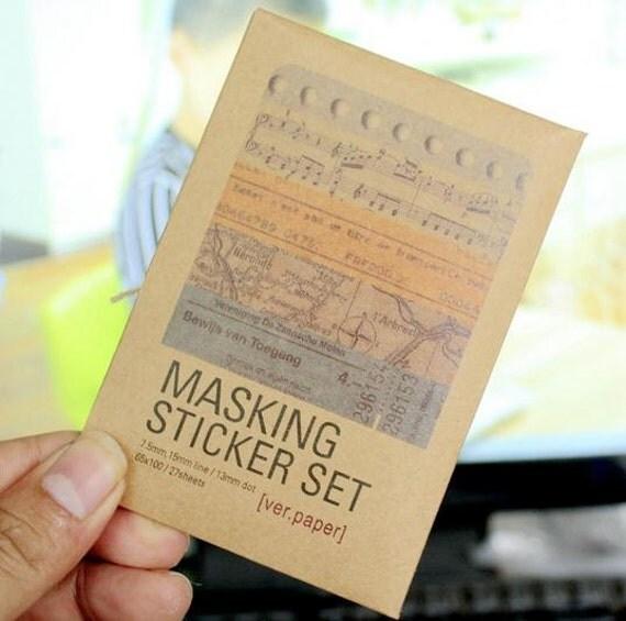 masking sticker set how to use