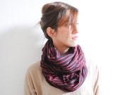Red Black Striped Scarf - Women's Fashion Accessories . Winter Accessories - Winter Fashion - Gift for Her - Christmas Present