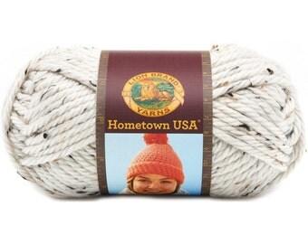 Lion Brand Hometown USA Chunky Yarn Aspen Tweed