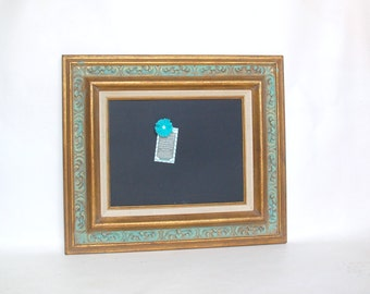 Shabby Chic Magnetic chalkboard frame frame gold turquise