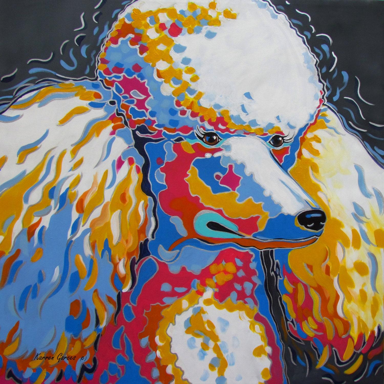 Standard Poodle Dog Art Gifts Poodle Art Portrait