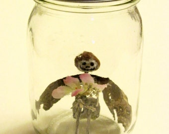 Fairy In A Jar - Kisa (Made With Real Blue Morpho Wings)