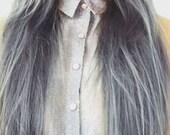 "Silver Hair Extensions, Grey Silver Hair, Grey Hair Extensions, Sterling Silver Hair, 7 Pieces, Clip In Hair Extensions, Studio She, 20"""