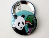 T-Rex & Panda Badge by Jurassic Panda Jurassic Park badge jurassic world badge