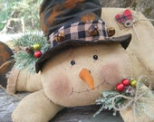 pRiMiTiVe Winter ChRiStMaS FaLLeN SnOwMaN DoLL FAAP