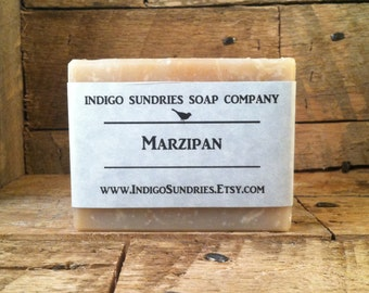 Marzipan Handmade Cherry & Almond Soap for Women // Vegan Soap // All Natural Soap // Cold Process Soap // Handmade Soap // Clay Soap