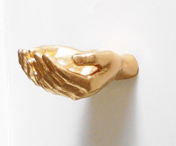 Wall Decor Hand Wall Shelf Gold Hands Wall Hands Hand