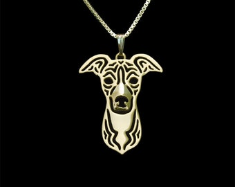 Italian Greyhound - Gold pendant and necklace