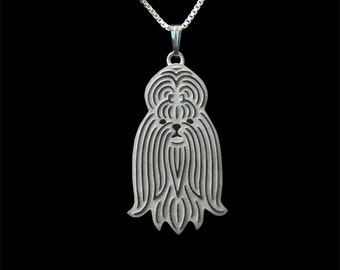 Shih Tzu - sterling silver pendant and necklace
