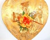 Vintage Valentine Yellow Candy Box Top