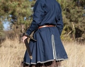 "Ready to ship! BLACK Cotton Viking Tunic ""Bjorn the Pathfinder"""