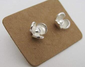 3 Petal earring - silver