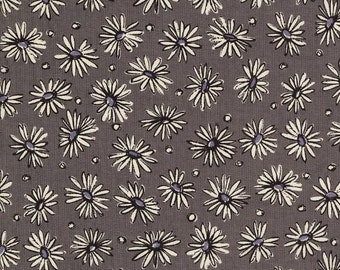 Daisies on Grey (E)  by Suzuko Koseki for  Yuwa of Japan