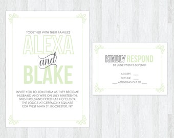 The Ashley | Simple Hipster Wedding Invitation