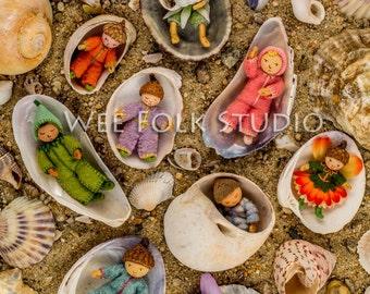 6 card set -Wee Folk Babies Variety Pack