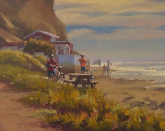 Crystal Cove - Beach - Family - Biking - Outing - Laguna Beach - Sand - Seashore - Dad - Children - Seascape - Southern California - Picnic