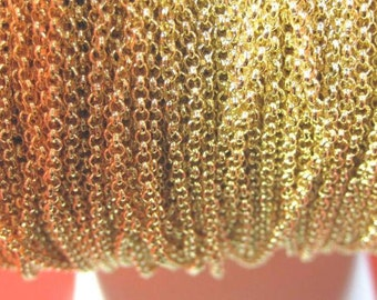 Rolo 16k gold plated, Rolo chain, High Quality 16k gold plated chain, 2.0mm, Bulk order available