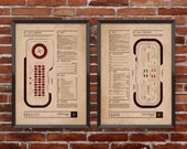 Craps & Roulette Casino Diagram Set - Poster collection of hand-illustrated casino games with documentation about how they're played