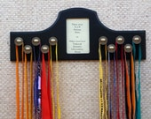 Running Medal Holder for 10 ribbons and 1 picture
