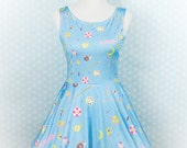 Choose Your Weapon Magical Girl Items Printed Skater Dress Fairy Kei Pastel Goth Kawaii