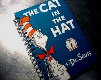JOURNAL CAT in the HAT Seuss Vintage Recycled Book