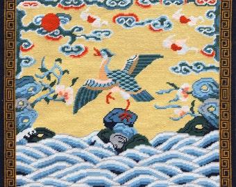 Chinese Mandarin Duck Civil Rank Badge Tapestry Chart Download