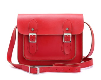 Small Red Leather Satchel
