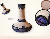 Reserved for D: Fat Lava Vase by Marei former Roth  // West German Pottery // Purple // mid century