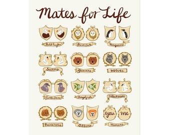 Mates for Life Art Print 11x14