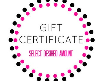 Gift Certificate For The Organic Body Boutique Lover - Gift For Any Occasion
