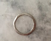 48mm Silver Connector Ring, Open Circle, Hammered, Pewter, Jewelry Supplies