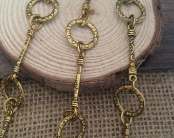 90cm antique gold chain 15mm wide